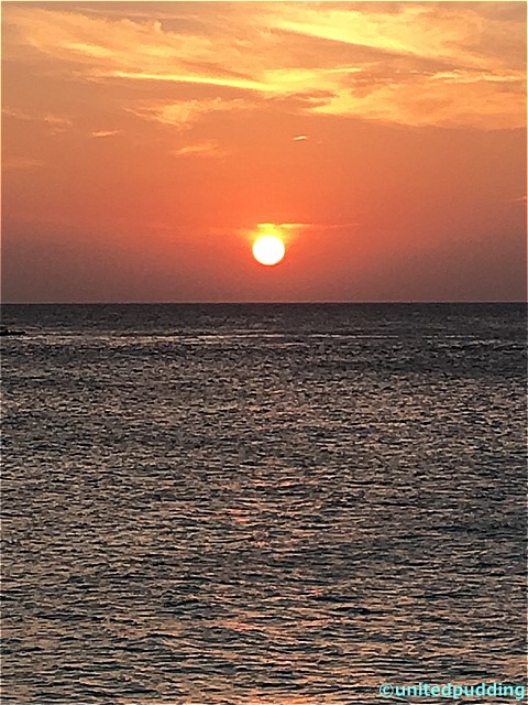 モルディブ夕日